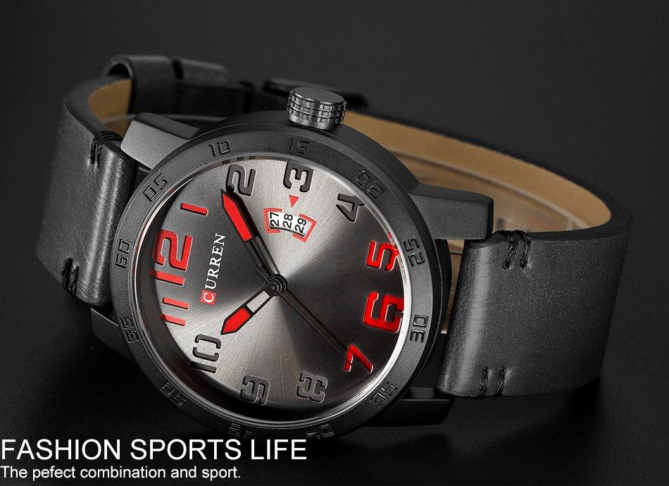 Zegarek Curren Beets czarny czerwony 8