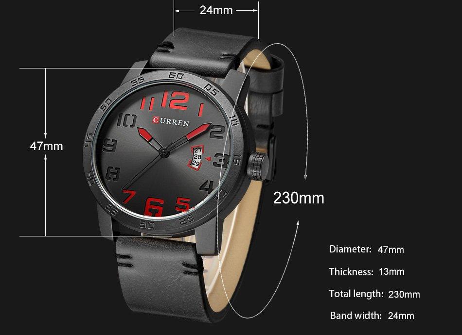 Zegarek Curren Beets czarny czerwony 9