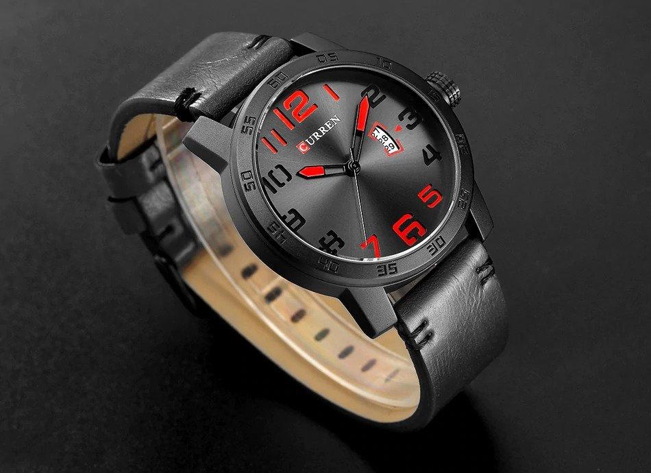 Zegarek Curren Beets czarny czerwony 11