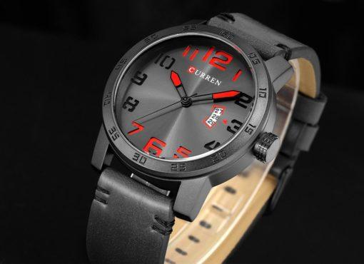 Zegarek Curren Beets czarny czerwony