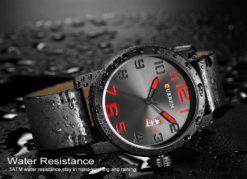 Zegarek Curren Beets czarny czerwony 4