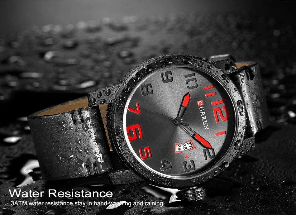 Zegarek Curren Beets czarny czerwony 14
