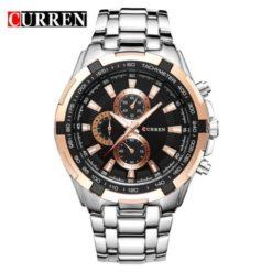 Zegarek Curren Harrison srebrny czarno złoty