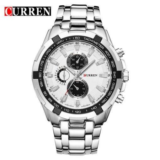 Zegarek Curren Harrison srebrny biały 4