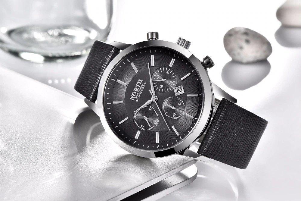 Czarny zegarek North Iceland