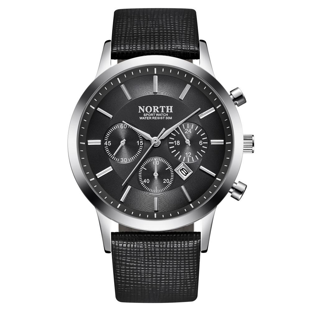 Czarny zegarek North Iceland tarcza