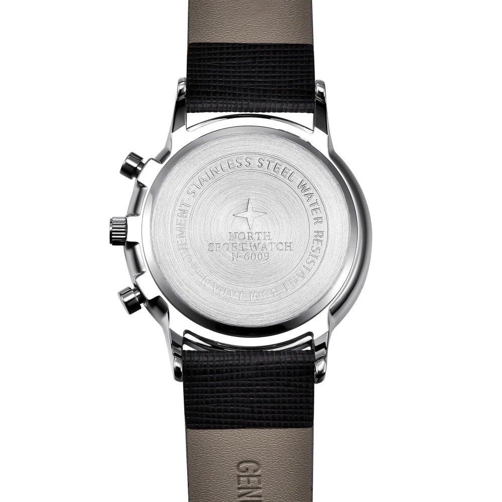 Czarny zegarek North Iceland tył