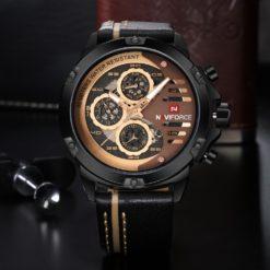 Zegarek Naviforce Maverick złoty brązowy