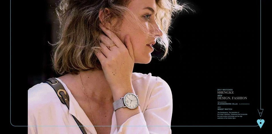 Zegarek Shengke Milan srebrny 9