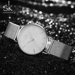 Zegarek Shengke Milan srebrny 8