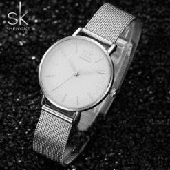 Zegarek Shengke Milan srebrny