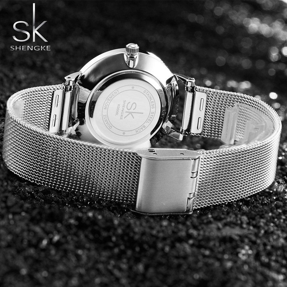 Zegarek Shengke Milan srebrny 12