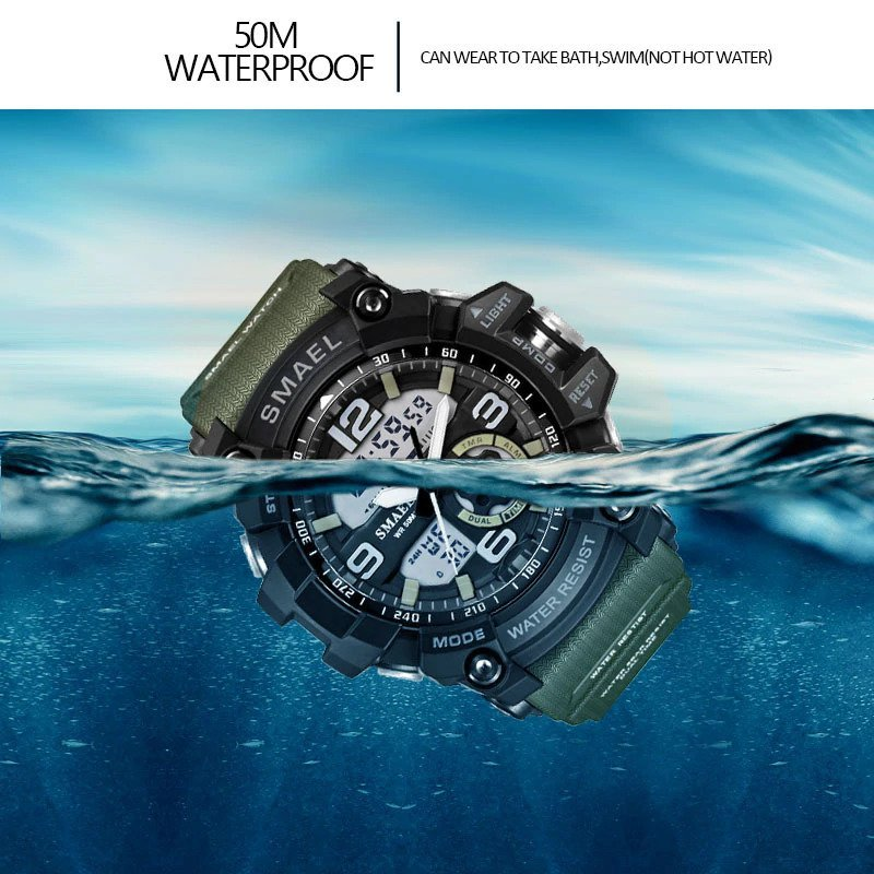 Zegarek Smael Military zielony 7