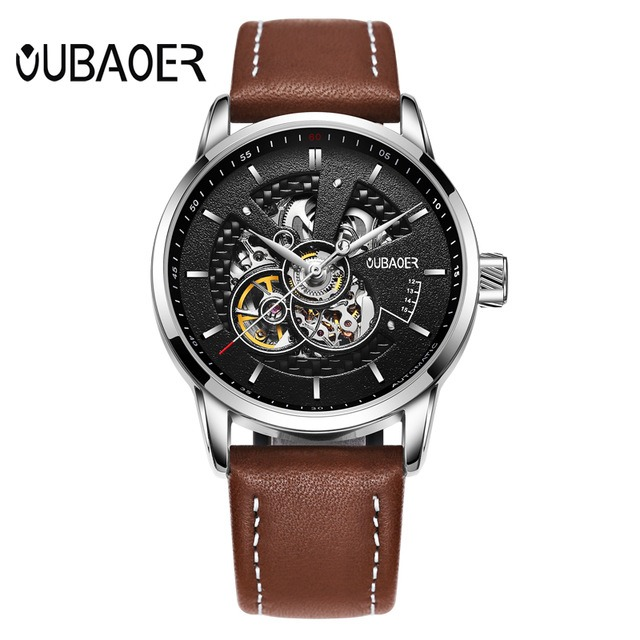Zegarek Oubaoer Primera brązowy 5