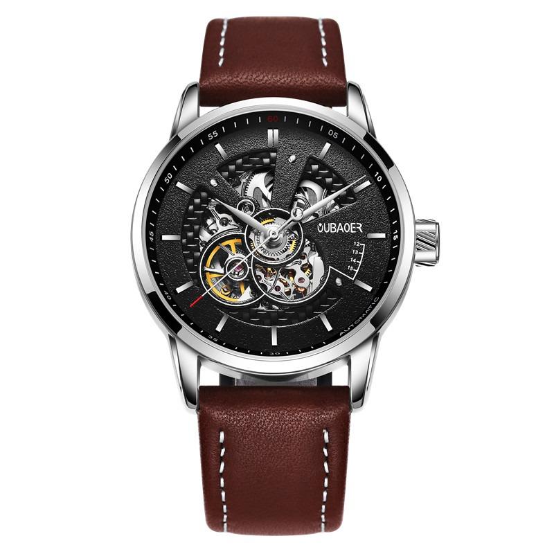 Zegarek Oubaoer Primera brązowy 8