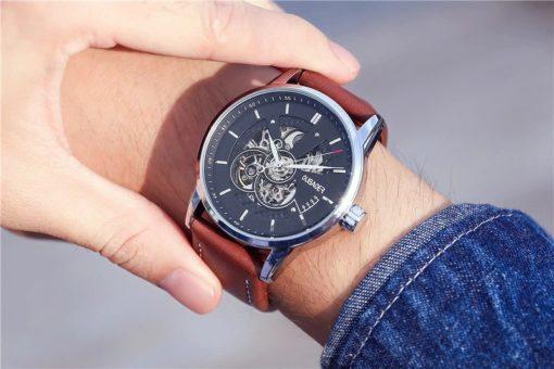 Zegarek Oubaoer Primera brązowy