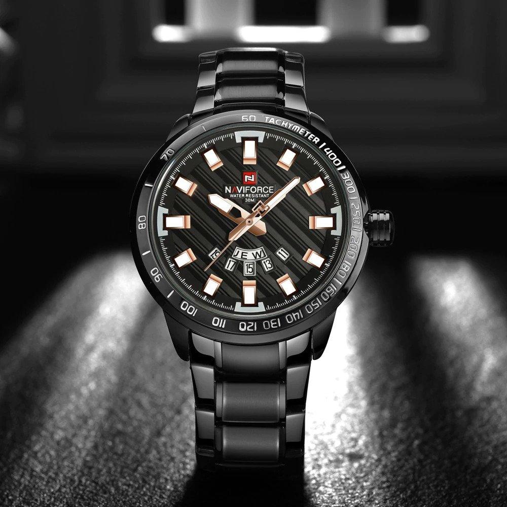 Zegarek Naviforce Patriot czarny-złoty 10