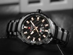 Zegarek Naviforce Patriot czarny-złoty 4