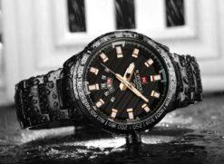 Zegarek Naviforce Patriot czarny-złoty 3
