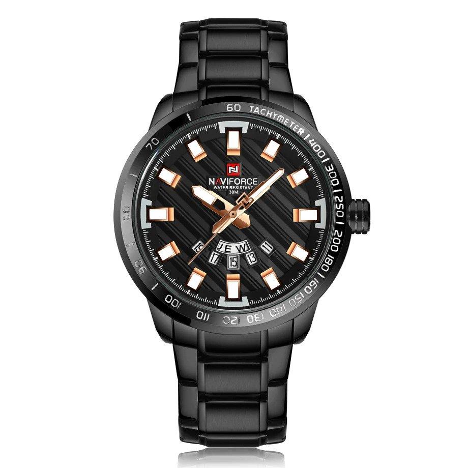 Zegarek Naviforce Patriot czarny-złoty 9