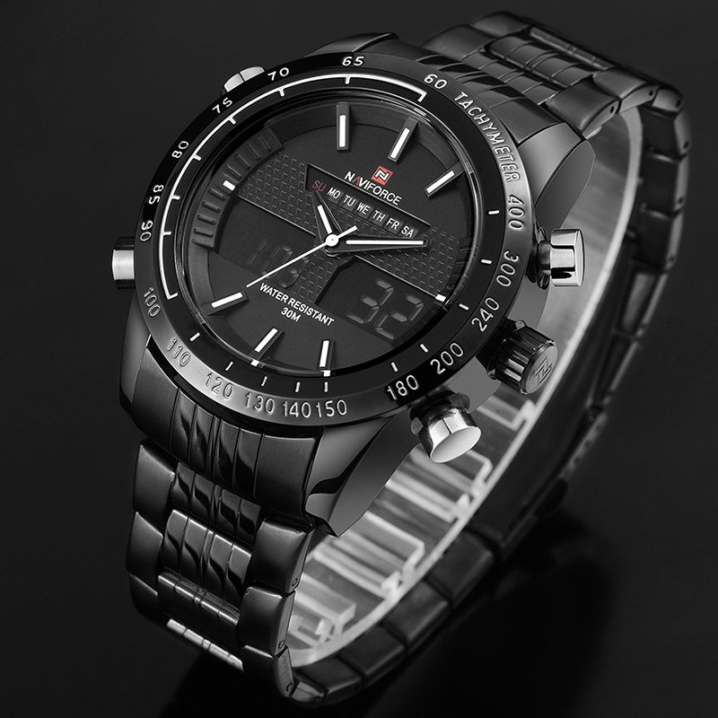 Zegarek Naviforce Power czarny biały 2