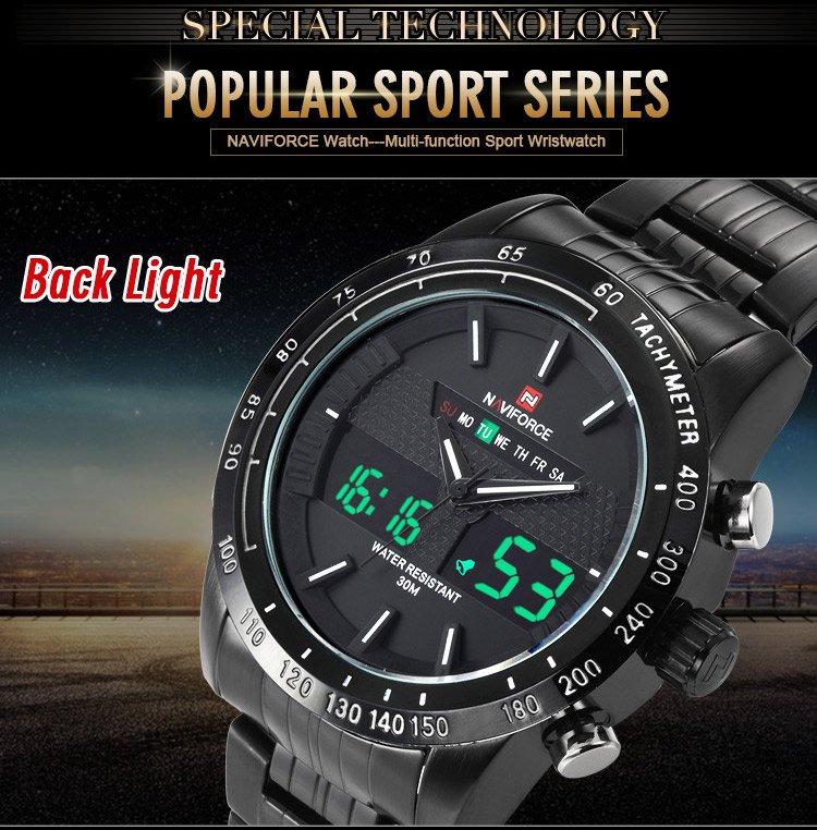 Zegarek Naviforce Power czarny biały 3