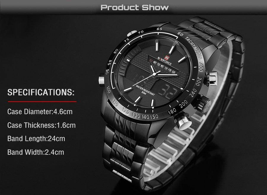 Zegarek Naviforce Power czarny biały 5