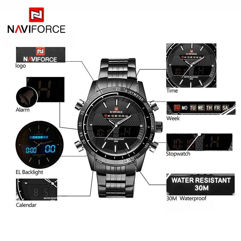 Zegarek Naviforce Power czarny biały 6