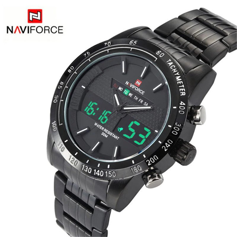 Zegarek Naviforce Power czarny biały 7