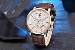 Zegarek Benyar Royal złoty biały BY5104