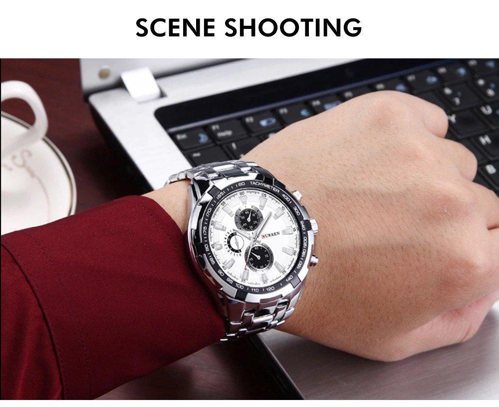 Zegarek Curren Harrison srebrny biały 5