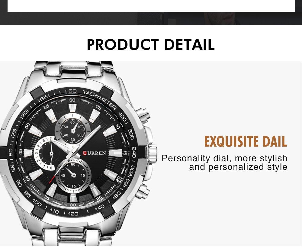 Zegarek Curren Harrison srebrny czarny 6