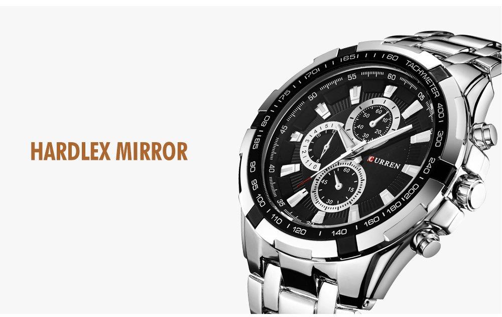 Zegarek Curren Harrison srebrny czarny 7