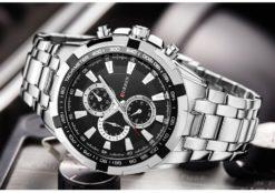Zegarek Curren Harrison srebrny czarny 5