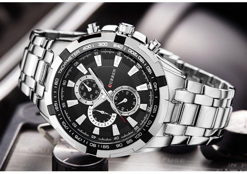 Zegarek Curren Harrison srebrny czarny 8
