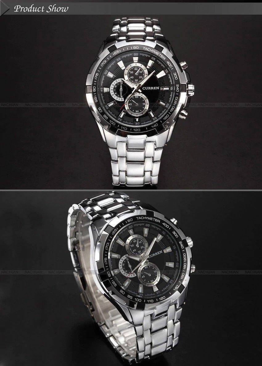 Zegarek Curren Harrison srebrny czarny 9