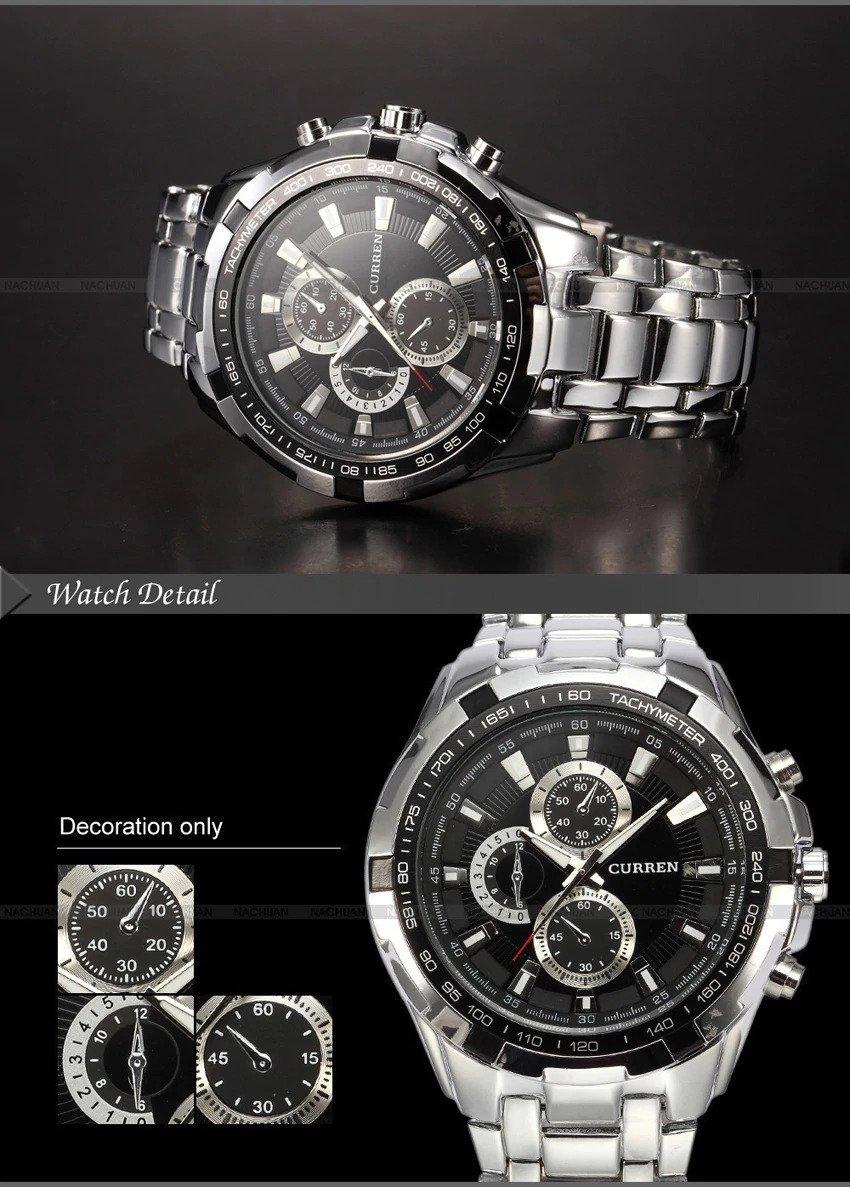 Zegarek Curren Harrison srebrny czarny 10