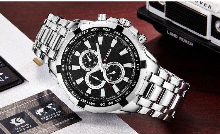Zegarek Curren Harrison srebrny czarny 11