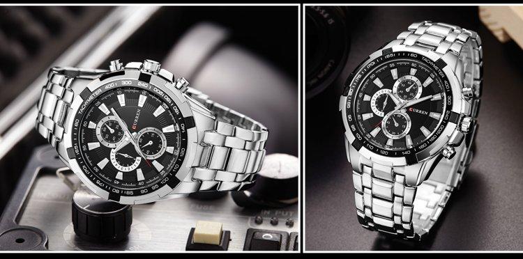 Zegarek Curren Harrison srebrny czarny 12