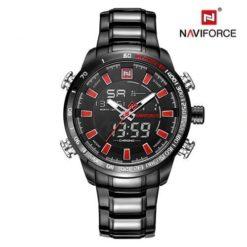 Zegarek Naviforce Rigor czarny czerwony
