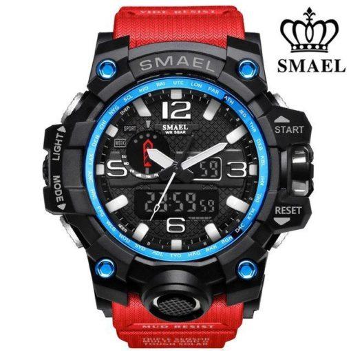 Zegarek Smael Camouflage czerwony