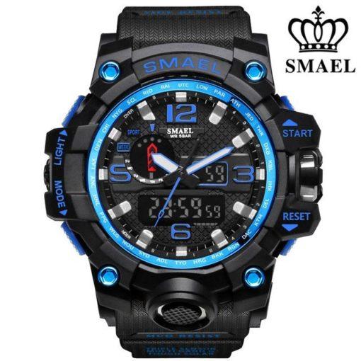 Zegarek Smael Camouflage niebieski czarny
