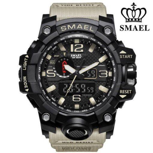 Zegarek Smael Camouflage khaki