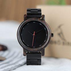 Zegarek drewniany Bobo Bird Black P10