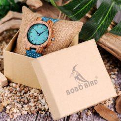Zegarek drewniany Bobo Bird Lazur C28-1 3