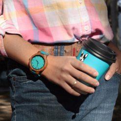 Zegarek drewniany Bobo Bird Lazur C28 45mm