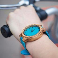 Zegarek drewniany Bobo Bird Lazur C28-1 1