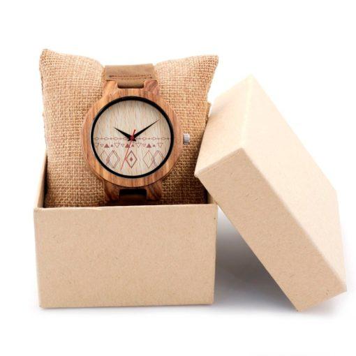 Zegarek drewniany Bobo Bird Pattern C19