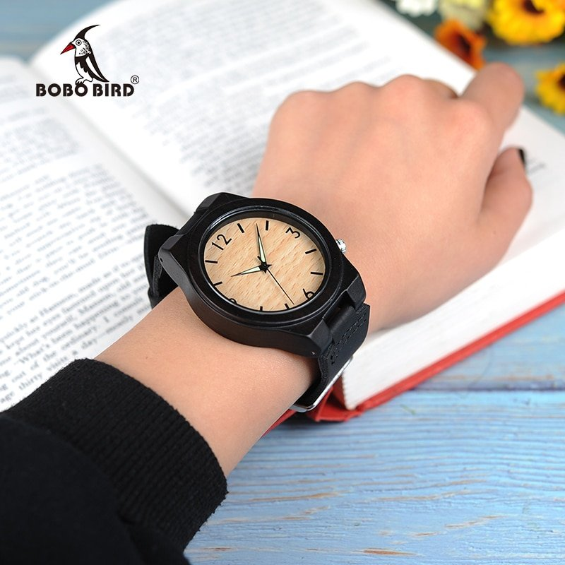 Zegarek drewniany Bobo Bird Glow B11 8