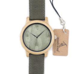 Zegarek drewniany Bobo Bird Green D12